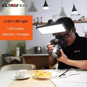 Image 5 - Viltrox L132T LCD bicolor regulable delgado portátil de mano DSLR Video luz LED para teléfono youtube show Live