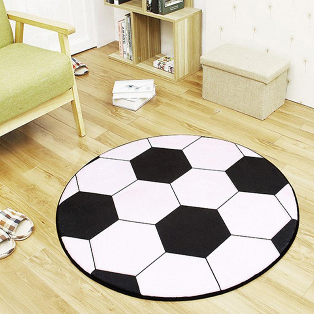 Dustproof Soccer Shape Rug Coffee Table Chair Floor Carpet Mat Pad Home Decor