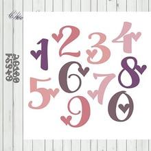 Metal Cutting Dies Arabic numerals 2 Stencils Die Cut for DIY Scrapbooking Album Paper Card Embossing eastshape alphabet abc ballon metal cutting dies hello stencils die cut for diy scrapbooking album paper card embossing