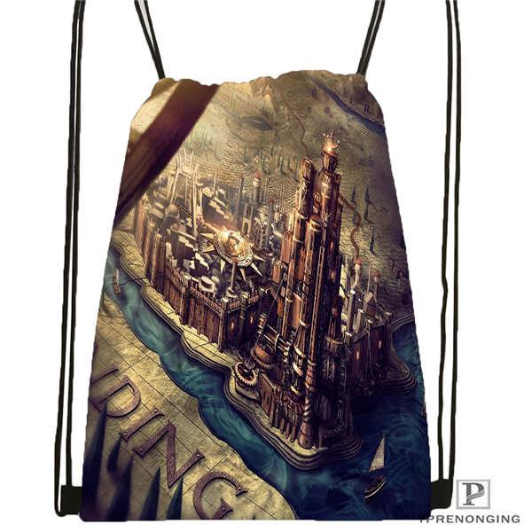 Custom Game-of-Thrones-game- Drawstring Backpack Bag Cute Daypack Kids Satchel (Black Back) 31x40cm#20180611-02-61