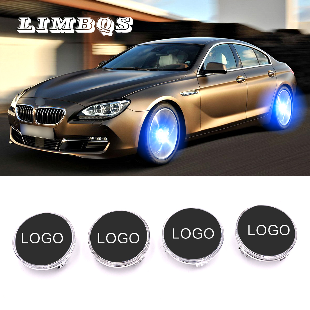 4 pcs Illuminated <font><b>hub</b></font> <font><b>cap</b></font> 68mm for <font><b>bmw</b></font> f10 f11 f30 f32 g30 auto wheel <font><b>caps</b></font> light floating center cover lighting accessory image