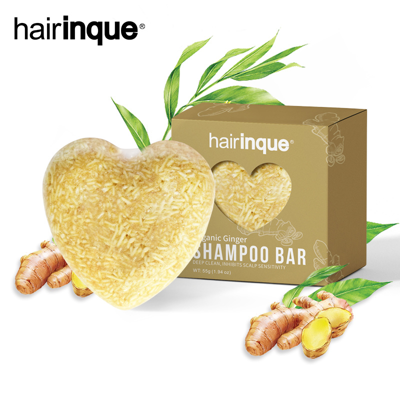 HAIRINQUE Ginger Shampoo Bar Hair Loss Shampoo Soap Natural Ingredients No Chemicals Preservatives Shampoo Soap Hair Care TSLM1