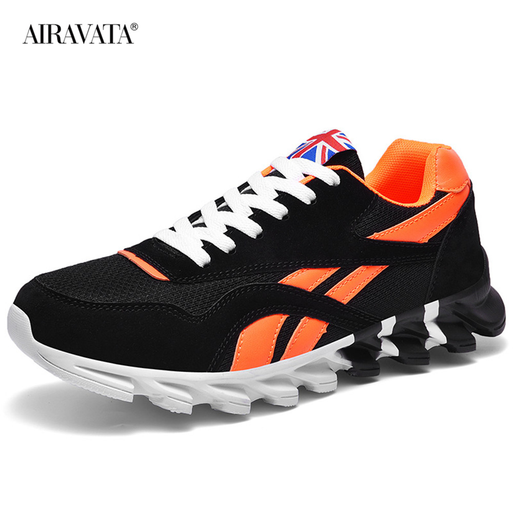Orange-Couples Sneakers Casual Breathable Comfortable Running Sport Shoes