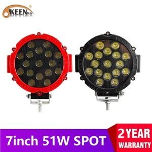 OKEEN 7 inch LED Light Bar 51W