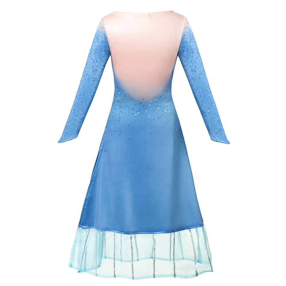 H7db4aabec3624c96a5cdf35a175eb8caP - Fancy Baby Girl Princess Clothes Kid Jasmine Rapunzel Aurora Belle Ariel Cosplay Costume Child Elsa Anna Elena Sofia Party Dress