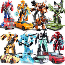 Educational bumblebee transformer robot car action figure model toys For Children boy Transformation plastic toy Gifts(China)