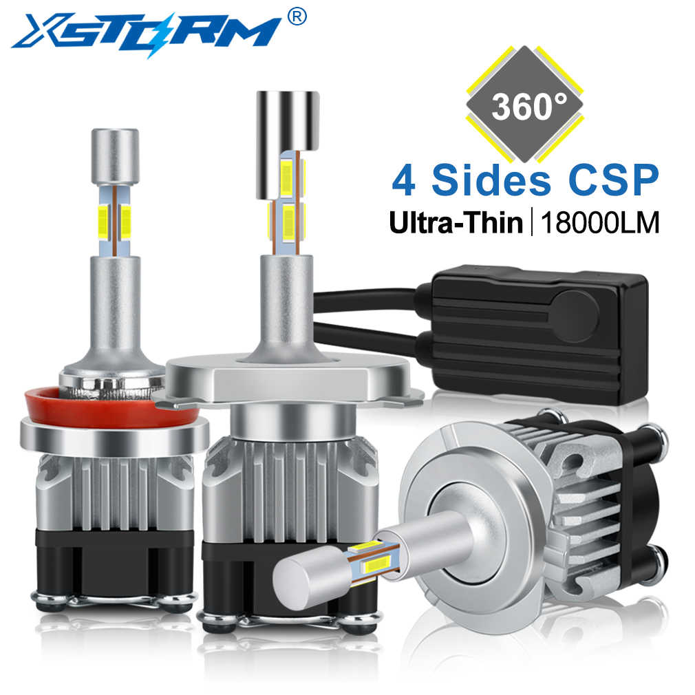4 Sides 18000LM H7 Led Canbus H1 H3 H4 H8 H11 9005 HB3 9006 HB4 Turbo Led Headlight Bulbs 6000K 12V 24V Auto Car Lights Fog Lamp
