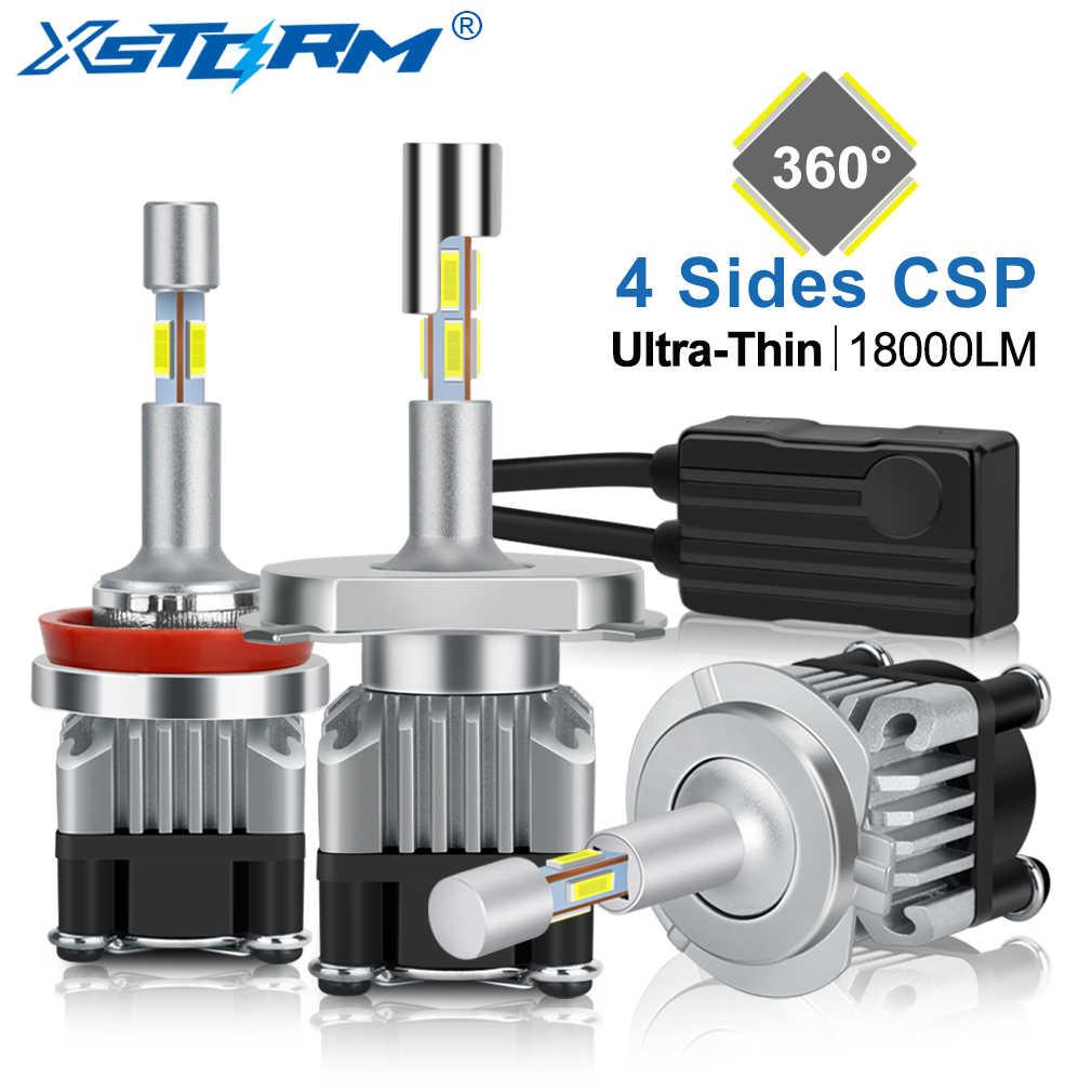4 Sides 18000LM H7 Led Canbus H1 H3 H4 H8 H11 9005 HB3 9006 HB4 Turbo Led Headlight Bulbs 6000K 12V 24V Auto Car Lights Fog Lamp
