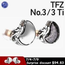 Tfz No.3 ノイズキャンセリングヘッドホンモニターハイファイ透明イヤフォン有線ダイナミックヘッドセット着脱式ケーブル