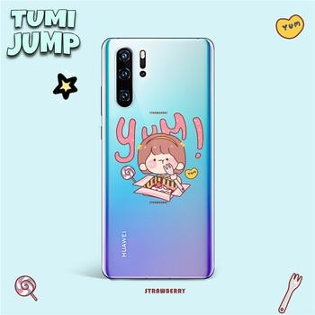TUMIJUMP série fraise gâteau souple étui en Silicone pour Huawei P40 P30 P20 Lite Pro P Smart Plus 2019 Z Mate 20 30 Lite étui