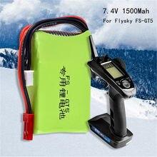7.4v 1500mah 2s Lipo Batterie Pièce de rechange Pour Flysky Fs-gt5 2.4g 6ch Transmetteur Super Capacité De Stockage Avec Indicateur De Travail