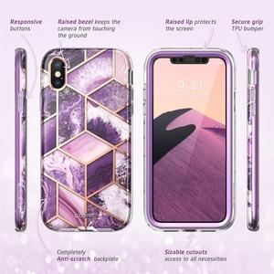 Image 5 - Per iPhone X Xs Caso 5.8 pollici I BLASON Cosmo Serie Full Body Shinning di Scintillio Marmo Cassa Del Respingente CON Costruito in Protezione Dello Schermo