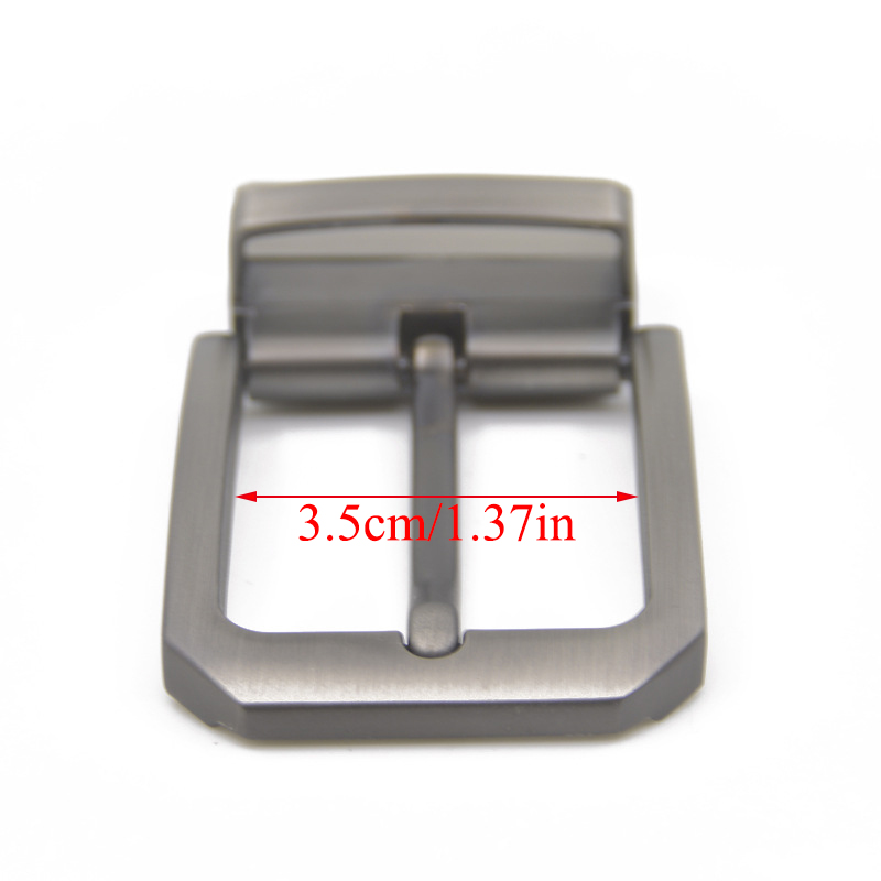 3.5cm Matte Brown Belt Buckle End Bar Heel Clip Bar Single Pin Belt Half Buckle For Leather Craft Jeans Webbing