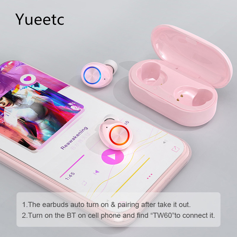Tws Wireless Bluetooth 5 0 Earphone Smart Mini Headset Touch Control Bluetooth Headphones With Charging Box Bluetooth Earphones Headphones Aliexpress