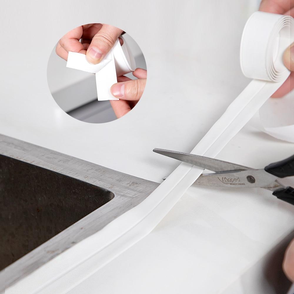 2.2x100cm Bathroom Kitchen Ceramic Wall Sink Stickers Sealing Sealant Tape Self adhesive Waterproof strip Anti-moisture PVC