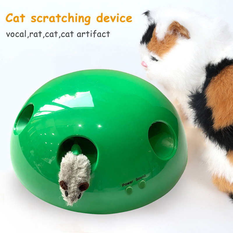 Cat Tease Squeak Toy Fake Mouse Non-Slip Kitten Scratching Teaser Pet Supplies MU8669