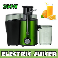250W Multifunction Electric Juice Stainless Steel Juicers 2 Speed Fruit Vegetable Food-Blender Mixer Extractor Machine for Home