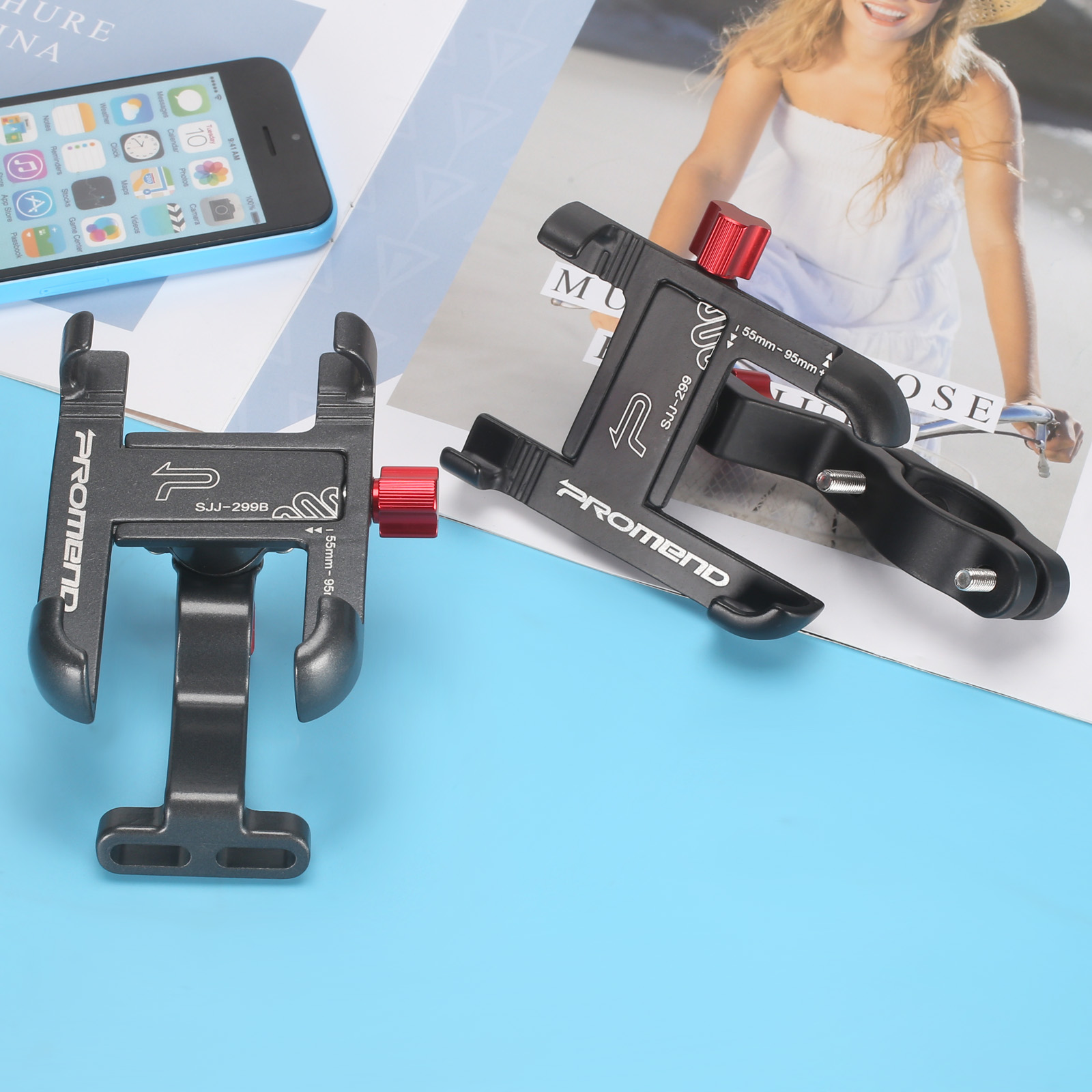 Promend Bike Mobile Phone Holder With 360 Degree Rotatable For Bike Car Bicycle 17