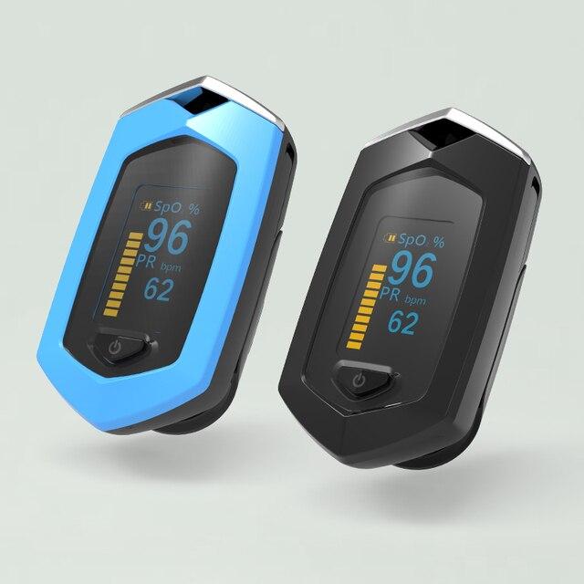 BOXYM Medical Rechargeable Finger Pulse Oximeter Digital Oximetro De Dedo SpO2 PR OLED CE Pulsioximetro Heart Rate Monitor 1