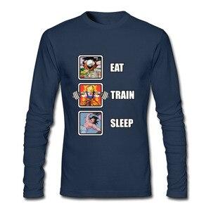 Image 3 - Лидер продаж, программист, Dragon Ball Eat Train Sleep Goku Repeat, 3d футболка с длинным рукавом и круглым вырезом, забавные зимние футболки для взрослых, футболка