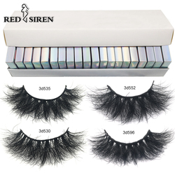 RED SIREN10/30/50 Fluffy Mink Eyelashes Wholesale Lashes with Box Soft Volume Natural Eyelasehs Makeup 3d Mink Lashes In Bulk