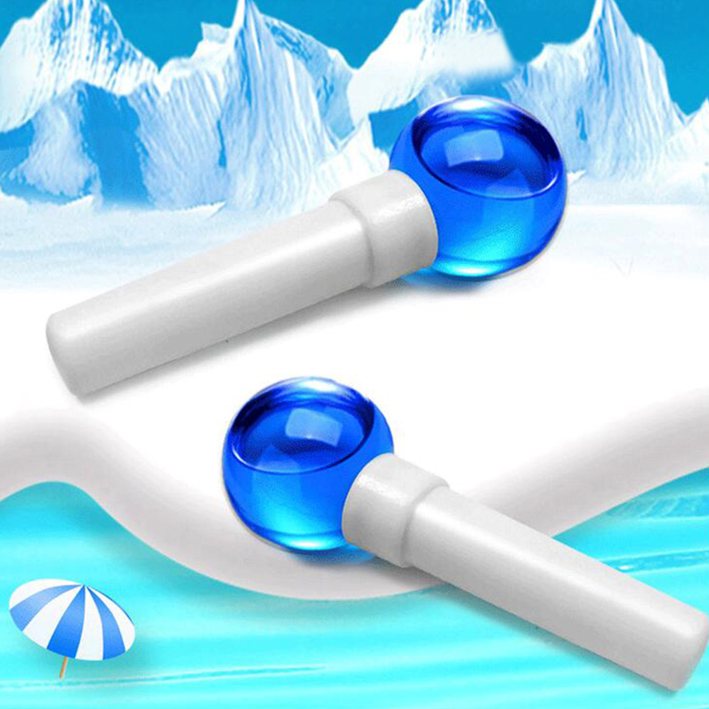 2pcs Facial Massage Ball Rotation Facial Massage Globes Beauty Ice Ball Massager Roller Cooling Energy Ice