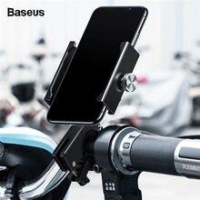 Baseus suporte do telefone da bicicleta da motocicleta para o iphone samsung da bicicleta suporte do telefone móvel guiador clip moto suporte de montagem