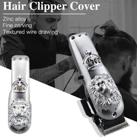 Barber Accessories Electric Hair Trimmer Cover Metal Back Housing Cover Hair Cutting Clipper Lid Professional Hair Clipper Case