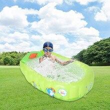 цена на 90*55*30cm Portable Indoor Outdoor Baby Swimming Pool Inflatable Children Basin Bathtub Kids Pool Baby Ocean Ball Pool Toy