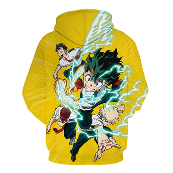 My Hero Academia Cosplay Todoroki Shoto Pullover Sweatshirts Boku no Hero Academia Izuku Midoriya Hoodies 3D japanese streetwear 2