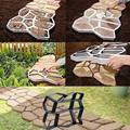 Форма для мощения, многоразовая форма для создания бетонной дорожки, формы для укладки, самодельные формы для тротуарной плитки для газона, ...