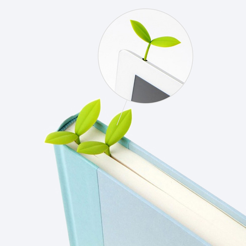 Simple Fresh Sprout Bookmark Clip Stationery Book Mark Paper Reading Students Page Holder School Office Supply Teacher Gifts