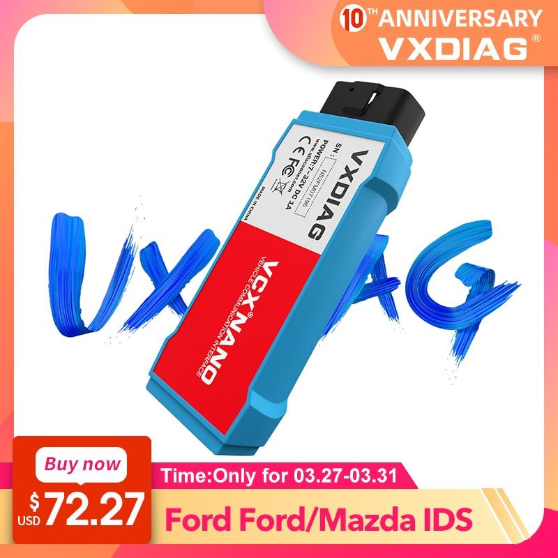 VXDIAG VCX NANO For Ford For Mazda OBD2 Car Diagnostic Tool 2 In 1 IDS V116 WiFi Automotivo Obd2 Scanner PCM, ABS Programming