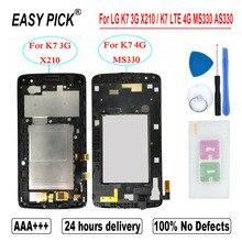 Dla LG K7 3G X210 wyświetlacz LCD montaż digitizera ekranu dotykowego dla LG K7 LTE 4G MS330 AS330 K332 K330 X210DS L51AL L52VL