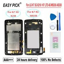 Pour LG K7 3G X210 LCD écran tactile numériseur assemblée pour LG K7 LTE 4G MS330 AS330 K332 K330 X210DS L51AL L52VL