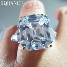 100% real 925 sterling silver Created Moissanite Diamond Gemstone Ring Cocktail Wedding Stone Rings Fine Jewelry for women