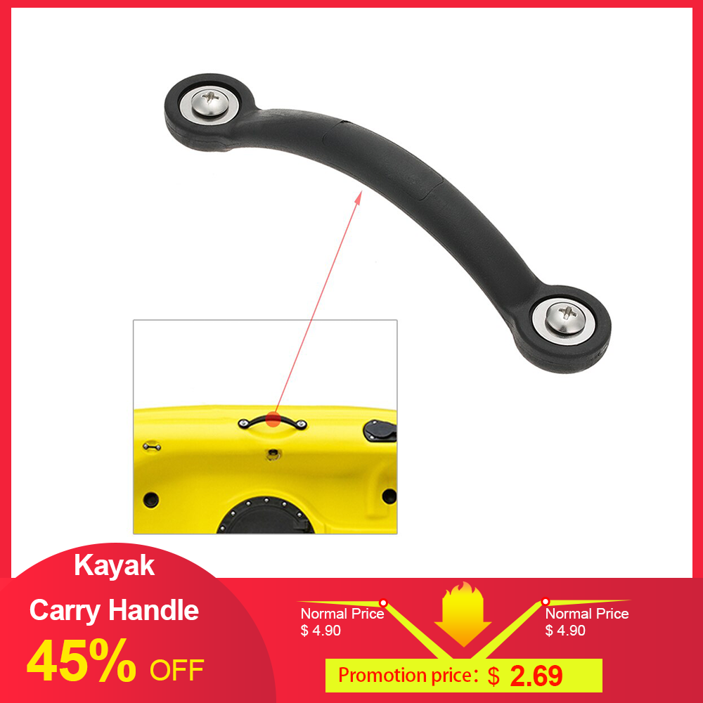 NEW 1pc 19cm Kayak Canoe Marine Boat Rubber Side Mount Carry Handle Screws Gaskets Water Sport Tools Boat Accessories Surfing