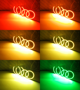 Image 4 - Excellent RF remote Bluetooth APP Multi Color Ultra bright RGB LED Angel Eyes For Toyota Avensis T25 2003 2004 2005 pre facelift
