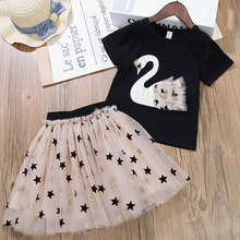 Summer Baby Toddler Girl Clothes T-shirt+Skirts Kids Clothes Sports Suit For Girls Clothes 2Pcs Set Children Clothing 3-7 Year