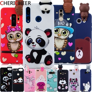 For Honor 10i Case 3D Toys Panda Cat Cartoon Case For Honor 10i 10 i 20i 20S 8 X 9 10 Lite 8S 8A 8X 7S 7A 7C Pro Silicone Cover(China)