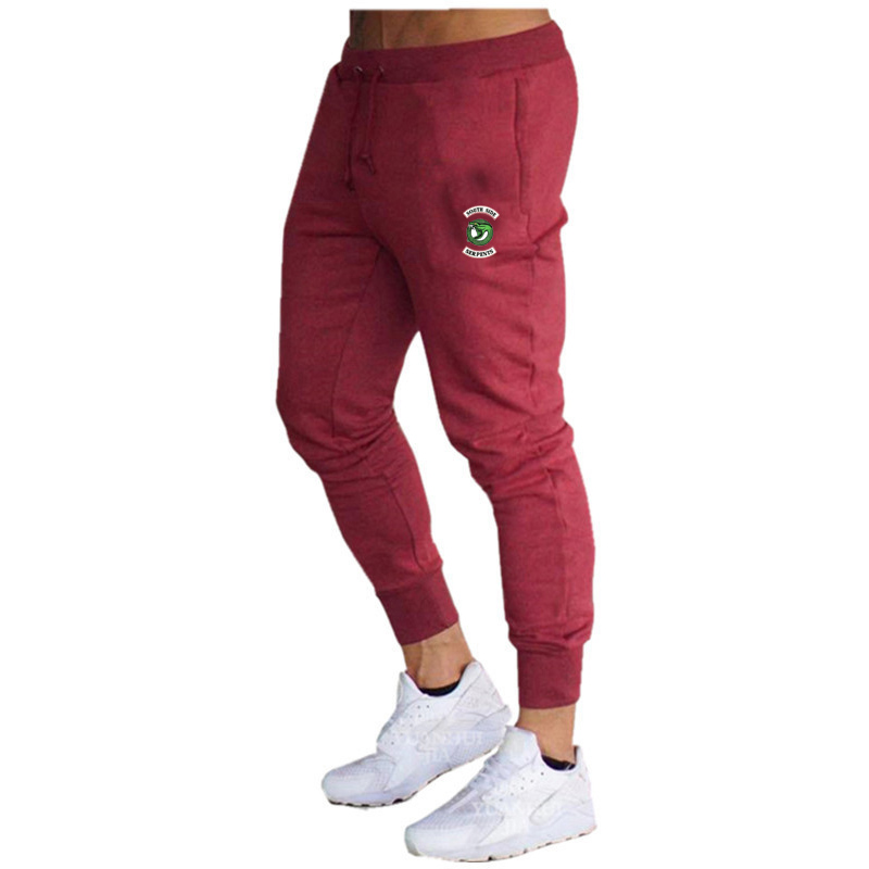 2020 Men's Casual Pants Ankle Long Elastic Band Casual Jogging Sports Fitness Pants title=
