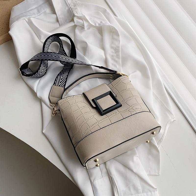 Crocodile Crossbody Bag For Women Shoulder Bag Brand Designer Women Bags Luxury PU Leather Bag Bucket Bag Handbag