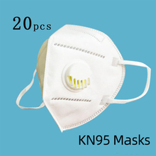 2/10/ 20pcs Kn95 Mask With Valve Anti Fog Anti Dust Particles Activated Carbon Prevention PM2.5 multilayer filter  N95 Mask