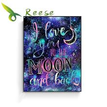 Needle Arts Craft Diy Full Resin Round Diamond Mosaic Cartoon Painting Cross Stitch Embroidery I Love You To The Moon And Back