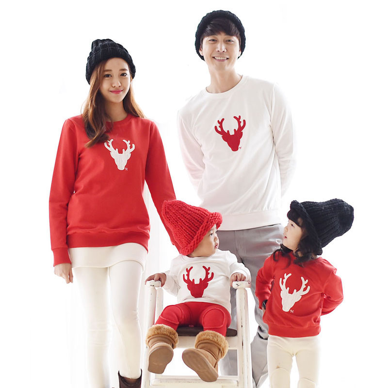 New 2019 Christmas Family Look Mama And Me Clothing Matching Family Clothing Sets Mother Daughter Father Baby T -shirt