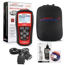 KONNWEI KW808 OBD Автомобильный сканер OBD2 автомобильный диагностический сканер инструмент поддерживает J1850 двигатель Fualt код чтения dfdf