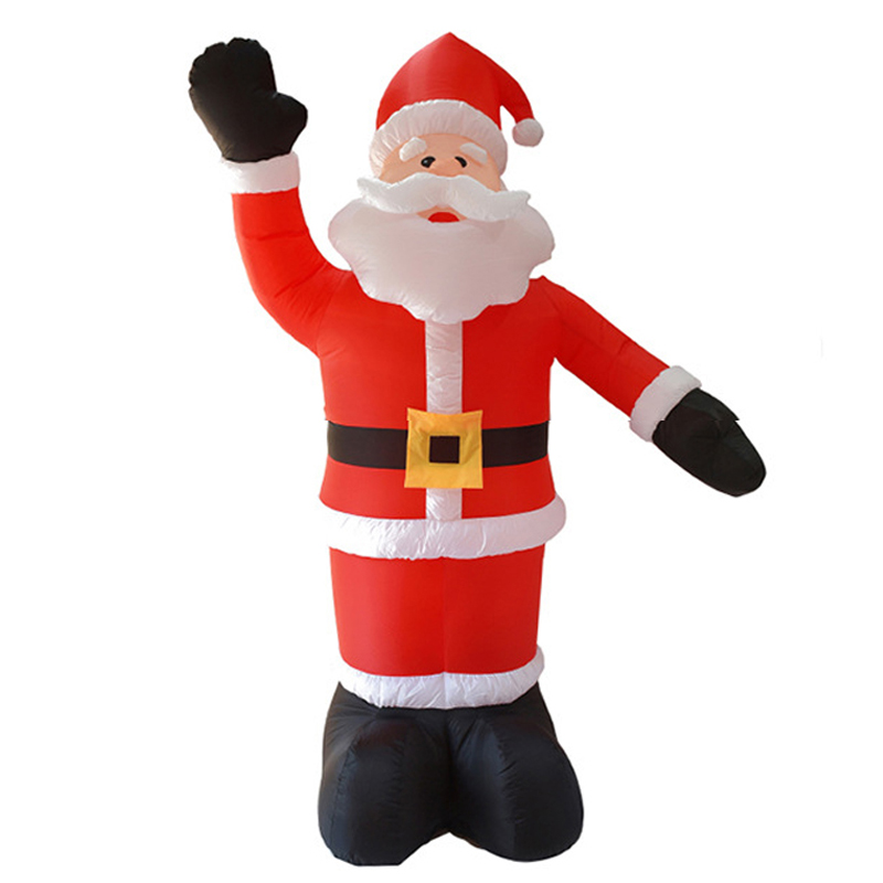 240cm Giant Santa Claus LED Lighted Inflatable Toys Christmas Props Birthday Wedding Party Toys Lawn Yard Outdoor Decoration