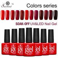 Saviland gradiente profissional série vermelha cores esmaltes semi permanentes uv unha gel polonês embeber fora laca de gel