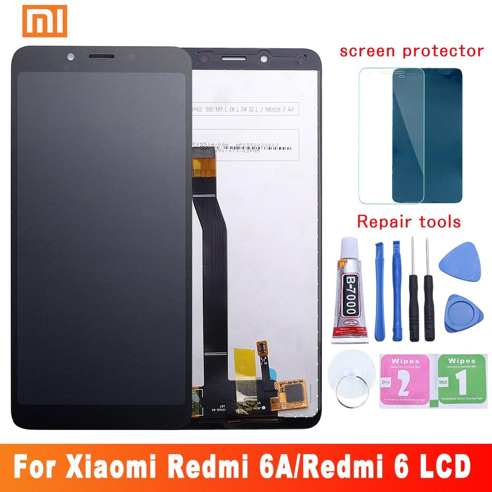 ЖК-дисплей с сенсорным экраном и рамкой для Xiaomi Redmi 6A, дигитайзер с ЖК-дисплеем для Redmi 6, запасные части, 10 точек касания, оригинал