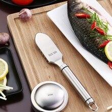 Скребок для рыбы из нержавеющей стали бытовой ручной нож для чистки рыбы Портативные Кухонные гаджеты zh1